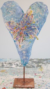 heart sculptures