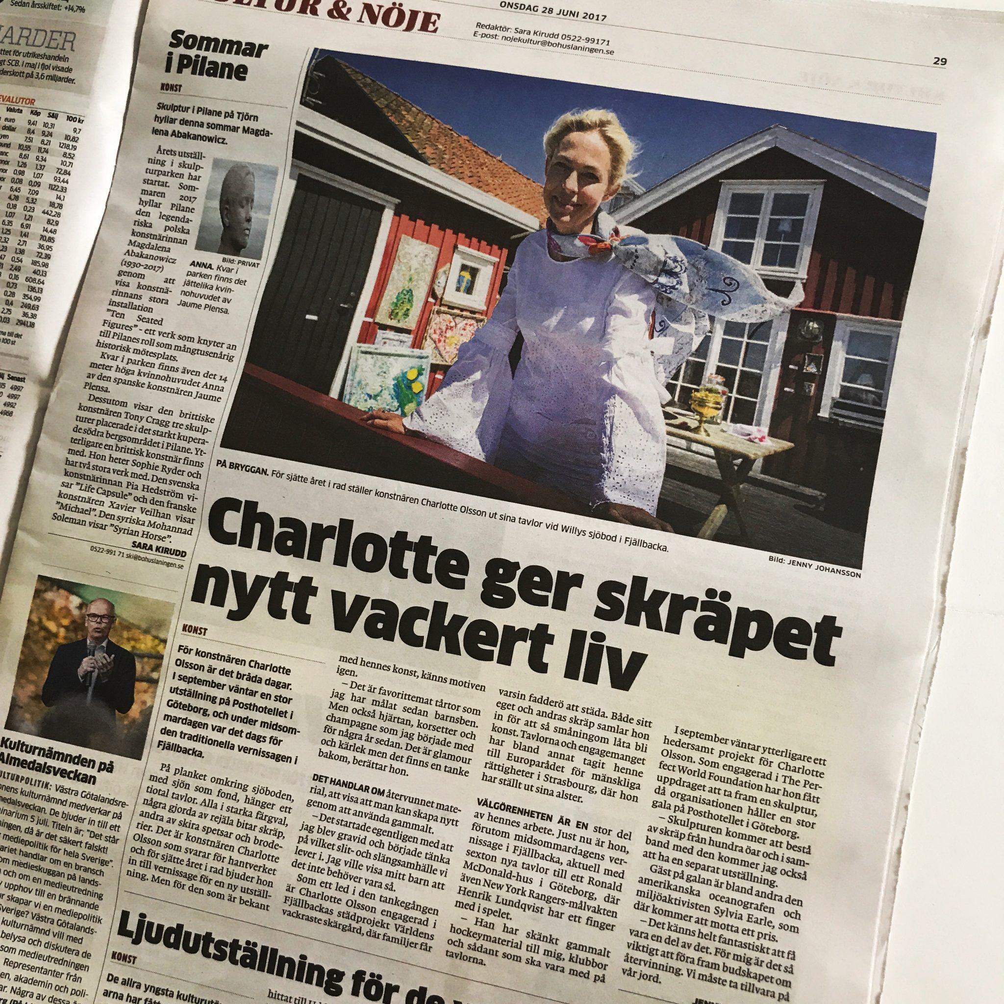 charlotte_olsson_bohusläningen_konstnär_tavla_konst_svenskkonstnär_artikel_återvinningskonst_hantverk_formge