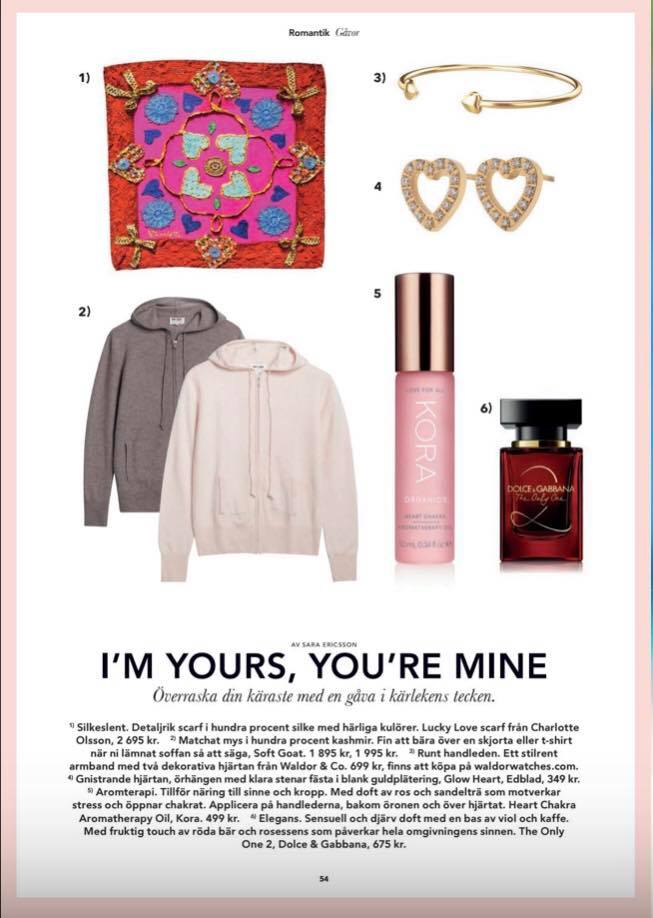 Lucky Love Scarf in the February edition of Älskade Östermalm